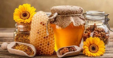 غذاء ملكات النحل وحبوب اللقاح للحمل