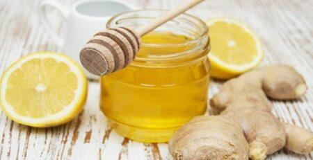فوائد زنجبيل وليمون وعسل للحلق